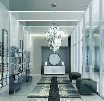 Karl Lagerfelf lobbies are all about luxury and modernity - monochromatic karl lagerfelf Karl Lagerfelf lobbies are all about luxury and modernity Karl Lagerfelf lobbies are all about luxury and modernity monochromatic 410x400