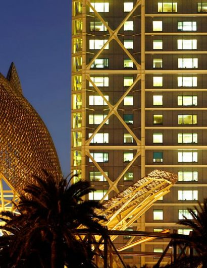 luxury destinations Top 5 Luxury Destinations for New Years Eve To Die For hotel arts at night with fish 1246 410x532