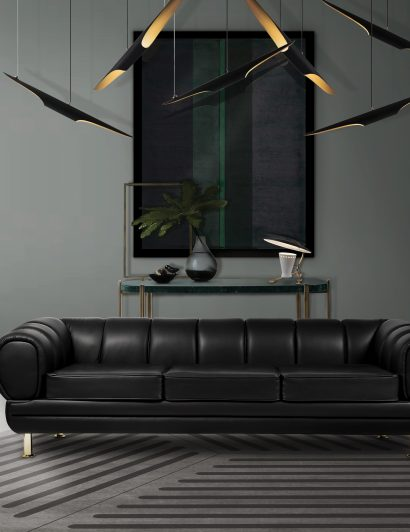 modern lighting designs 6 Modern Lighting Designs For a Space You'll Never Want to Leave novak sofa ambience 410x532