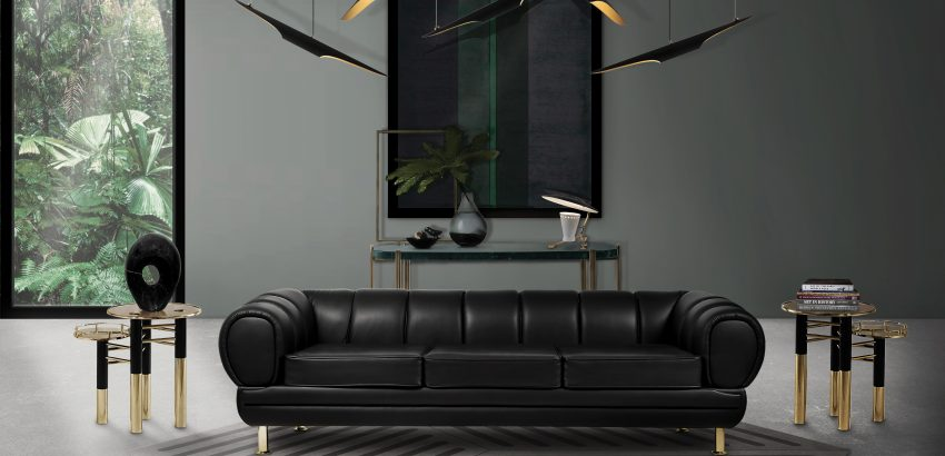 modern lighting designs 6 Modern Lighting Designs For a Space You'll Never Want to Leave novak sofa ambience 850x410