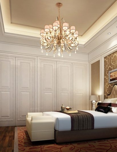 chandelier in every room 5 Reasons Why You Need to Hang A Chandelier in Every Room Bedroom Chandelier Lighting 410x532