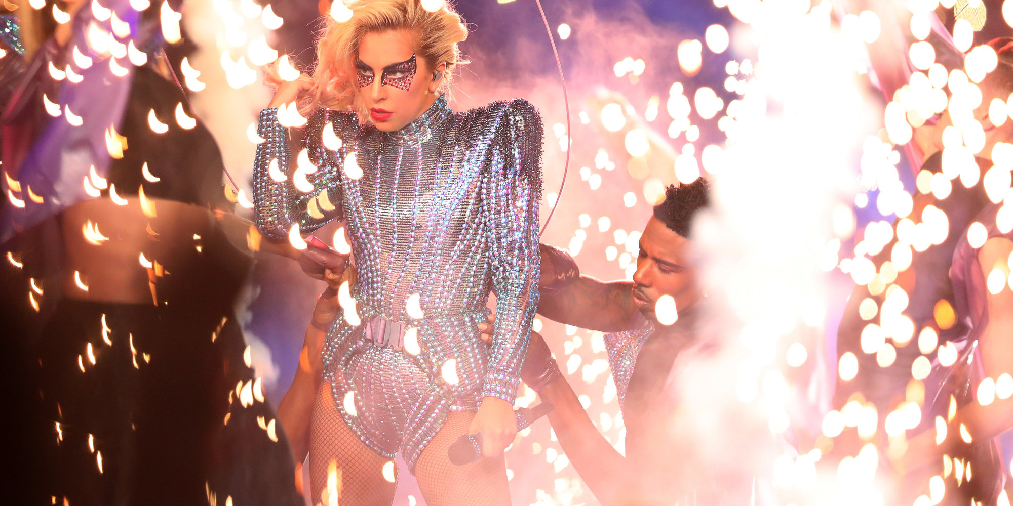 HOUSTON, TX - FEBRUARY 05:  Lady Gaga performs during the Pepsi Zero Sugar Super Bowl 51 Halftime Show at NRG Stadium on February 5, 2017 in Houston, Texas.  (Photo by Tom Pennington/Getty Images) born to dare by tudor Lady Gaga The New Face for Born to Dare by TUDOR lady gaga superbowl 2017 born to dare by tudor Lady Gaga The New Face for Born to Dare by TUDOR lady gaga superbowl 2017