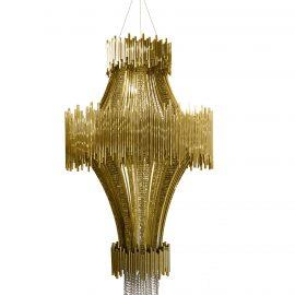 swarovski crystals Viktoria Swarovski Got Married in a Gown Covered in Swarovski Crystals scala chandelier 01 270x270