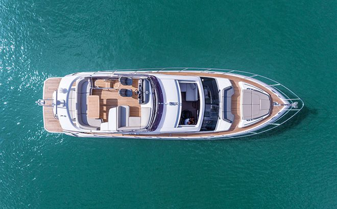 New S60 by Princess Yachts features Sleek Modern Design