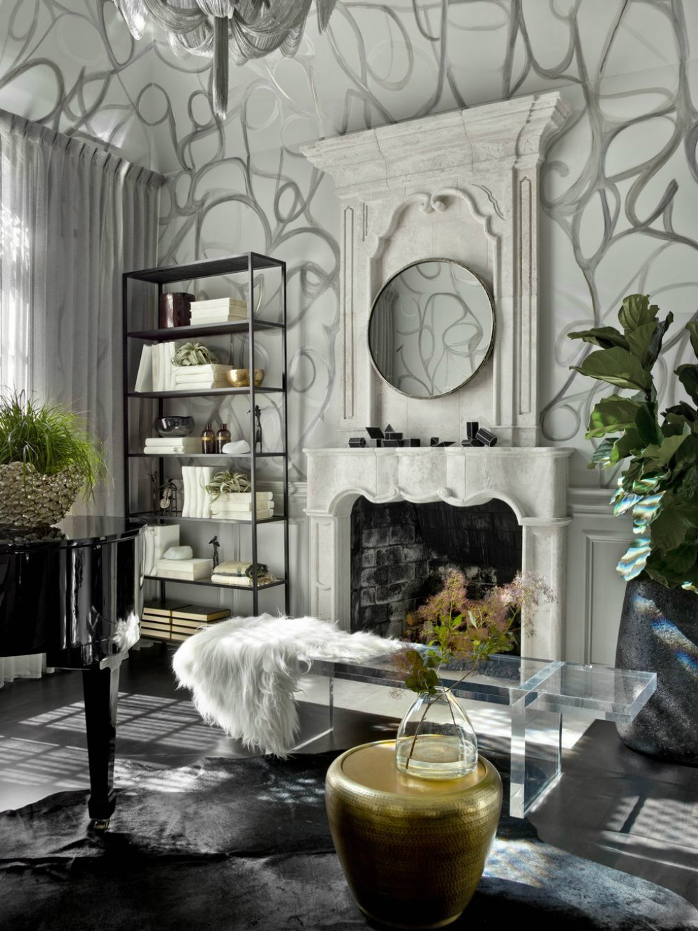 A Glamorous And Edgy Chicago Home