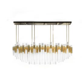 luxury hotel lobbies Striking Luxury Hotel Lobbies Around the World waterfall chandelier 01 270x270