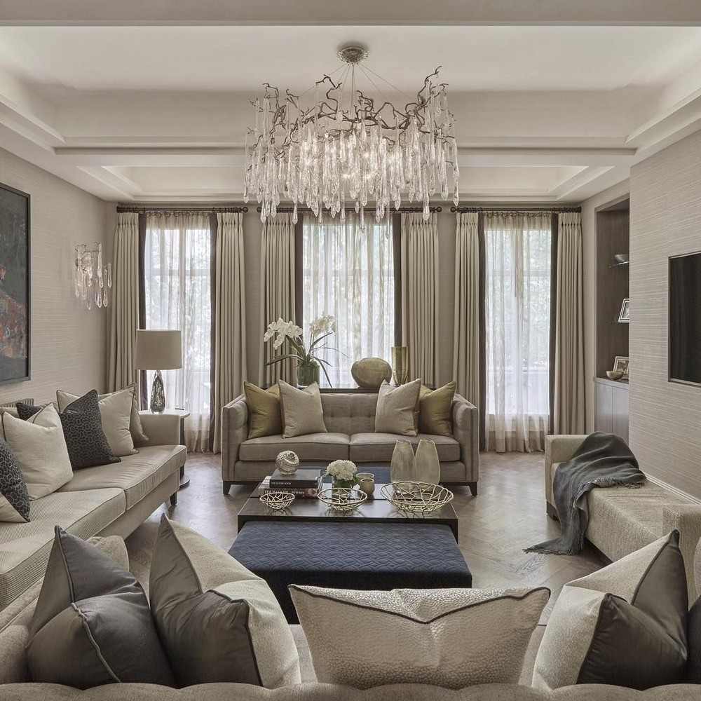 13 Dazzling Interior Designs that Highlight Statement Chandeliers 6