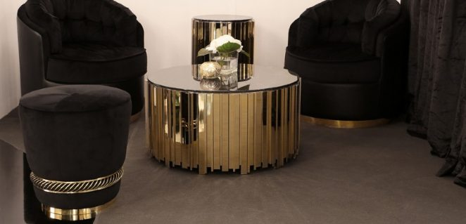 Home Decoration Black Gold Trend Lives On With These Modern Stools