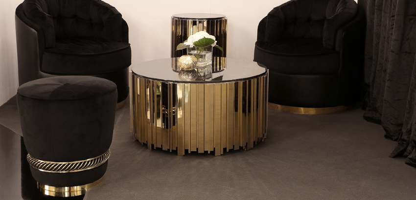 Home Decoration: Black & Gold Trend Lives on with these Modern Stools
