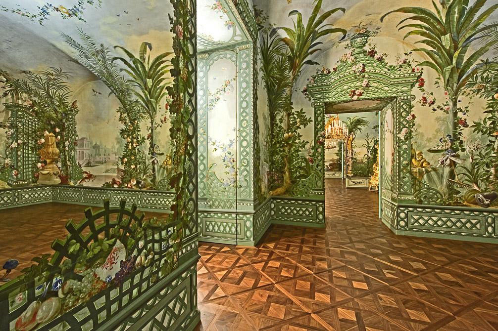 5 Royal Palaces Turned Luxury Hotels To Visit luxury hotels 5 Royal Palaces Turned Luxury Hotels Scho  nbrunn Palace Vienna Bergl Rooms Austria Mural Walls 3