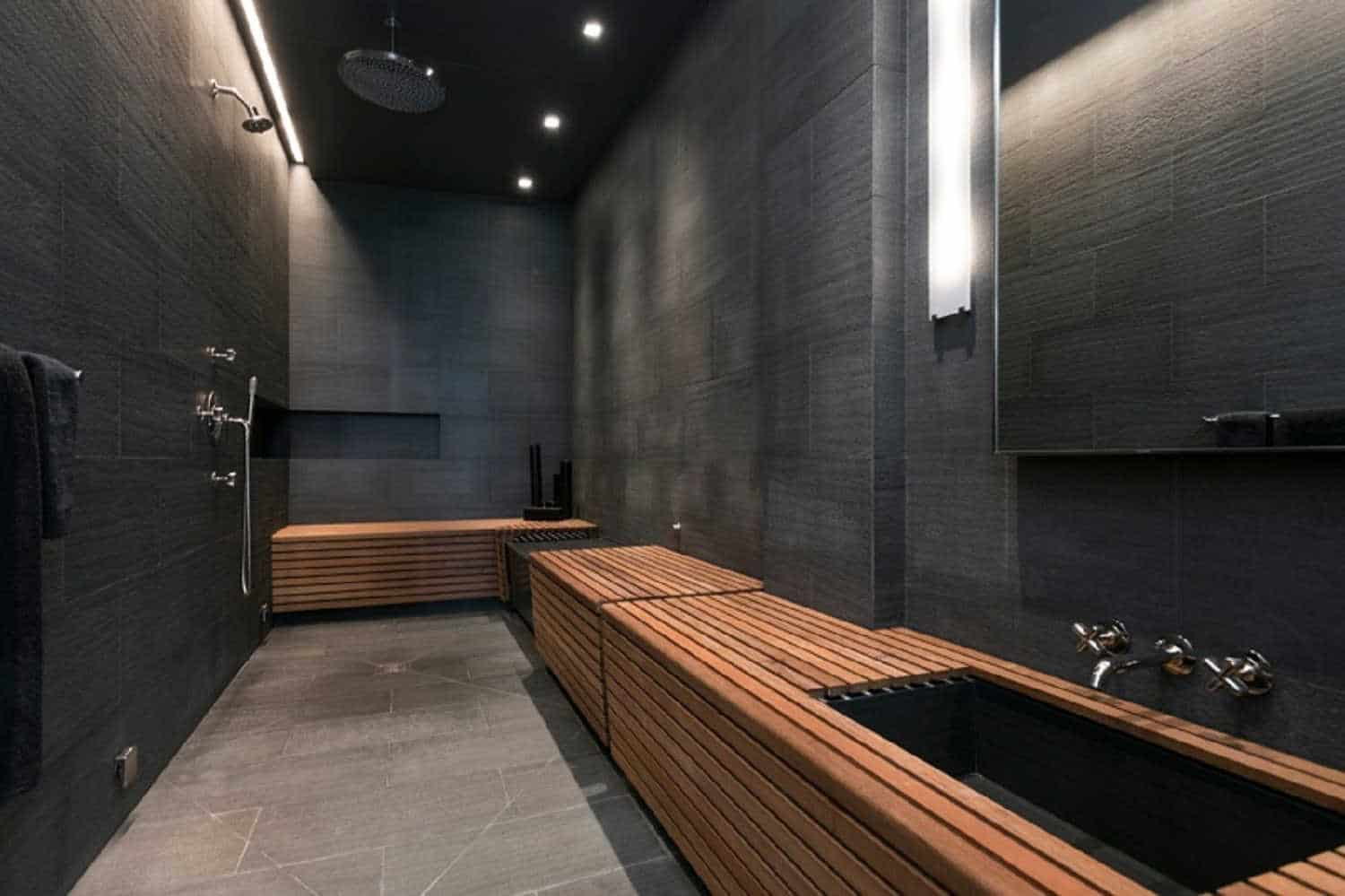 Bathroom Trends: Black Finishes bathroom trend Bathroom Trends: Black Finishes black master bathroom nov182019 09 min 1