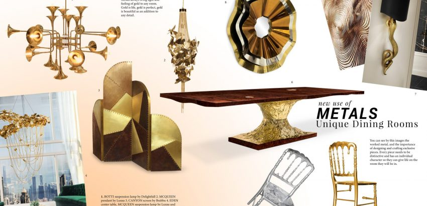 Dining Room Trends dining room trend Dining Room Trends: New Use Of Metals moodboard trends 2019 metals 850x410