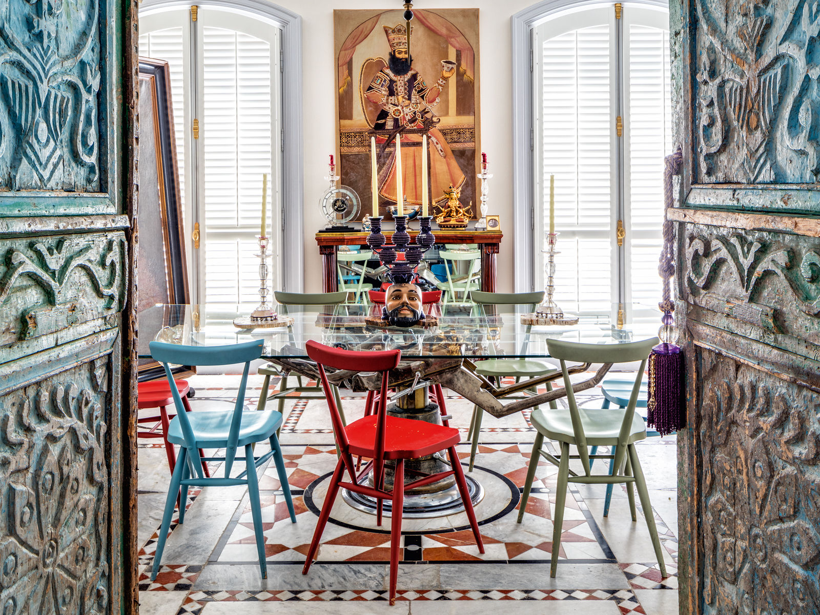 A Look into Christian Louboutin's Paris Penthouse dining room Dining room lighting ideas for a luxury interior Louboutin thumbnail dining room Dining room lighting ideas for a luxury interior Louboutin thumbnail