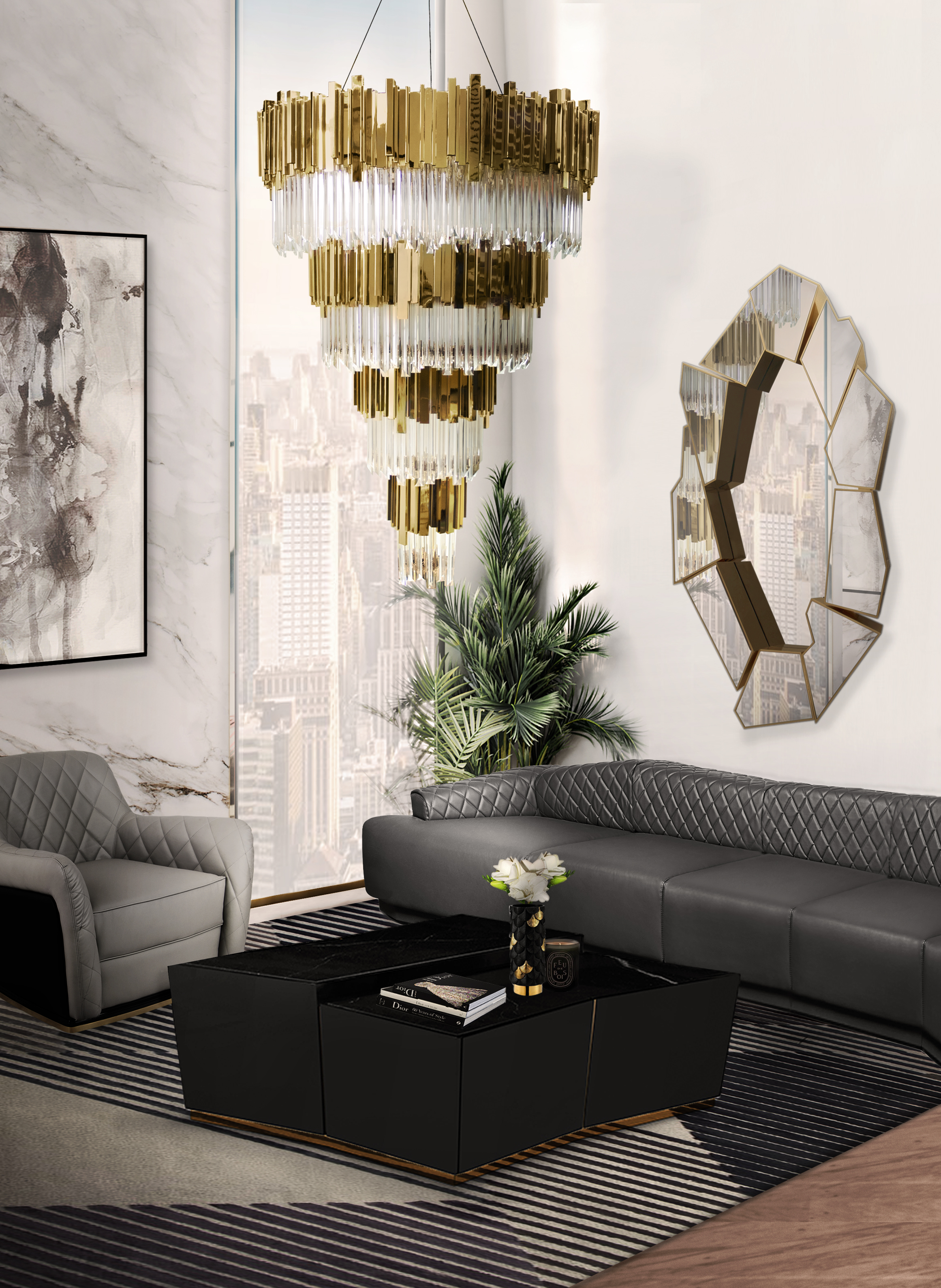 Living Room Trends: Modern Classic living room trends Living Room Trends: Modern Classic empire chandelier cover 06
