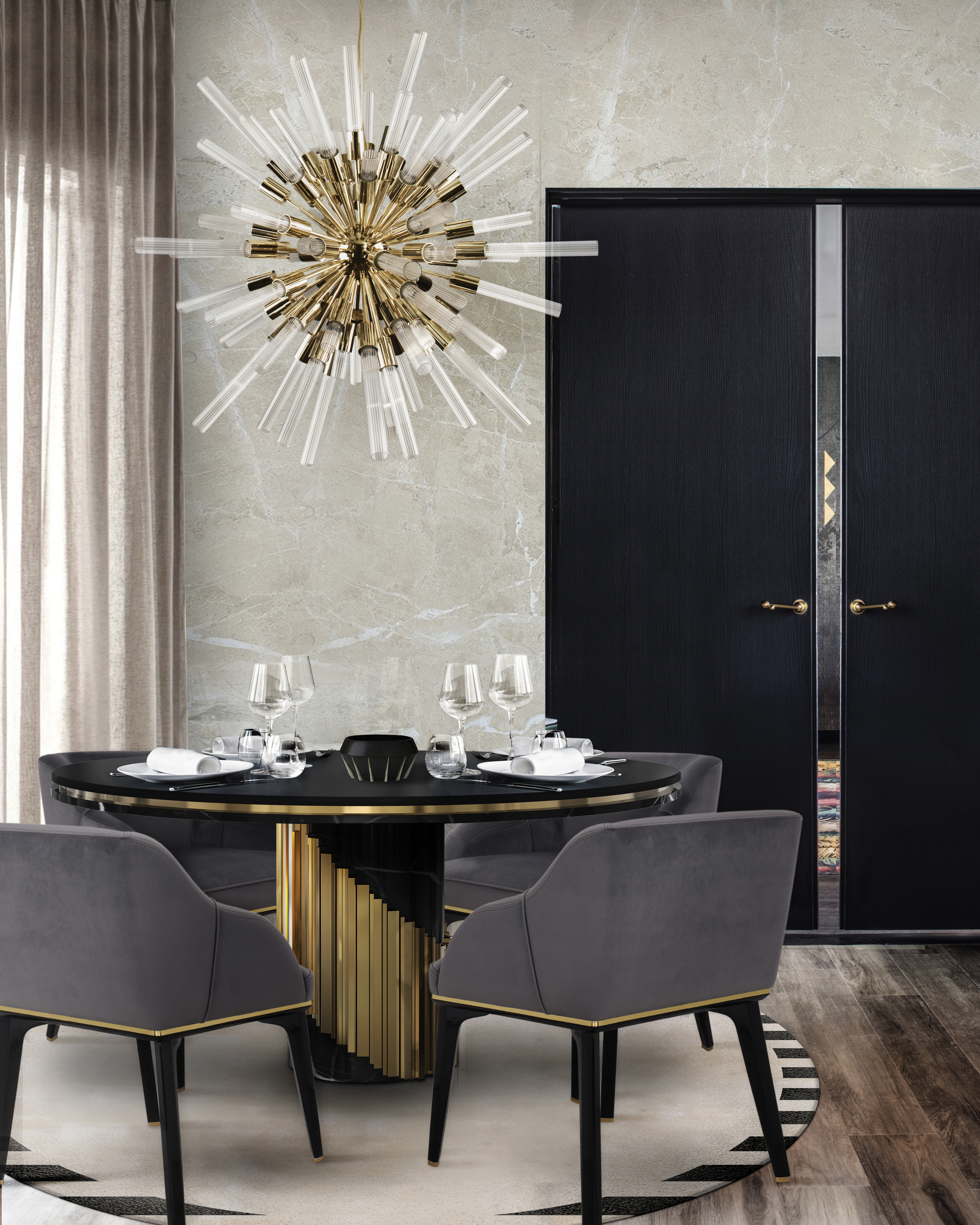 Interior Design Trends: Mid-Century Rounded interior design trends Interior Design Trends: Mid-Century Rounded waterfall sputnik suspension cover 02