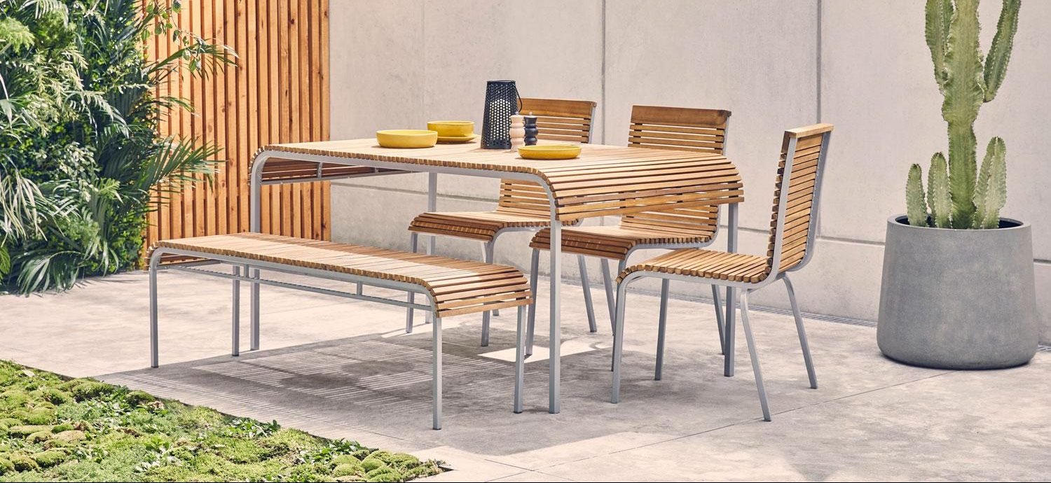 Summer Trends: Luxury Outdoor Furniture for an Enviable Garden luxury outdoor furniture Summer Trends: Luxury Outdoor Furniture for an Enviable Garden habitat rholio lounger ps295 rholio table ps350 rholio bench e1589800007645
