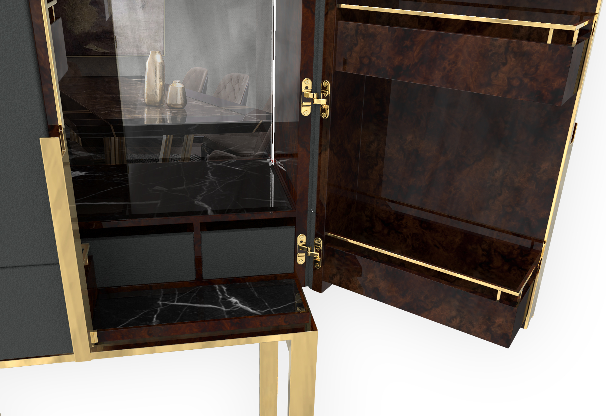 Luxury Design: Discover Our New Bar Cabinet luxury furniture collection 5 New Additions to Luxxu's Luxury Furniture Collection LLOYD bar cabinet detail luxury furniture collection 5 New Additions to Luxxu's Luxury Furniture Collection LLOYD bar cabinet detail