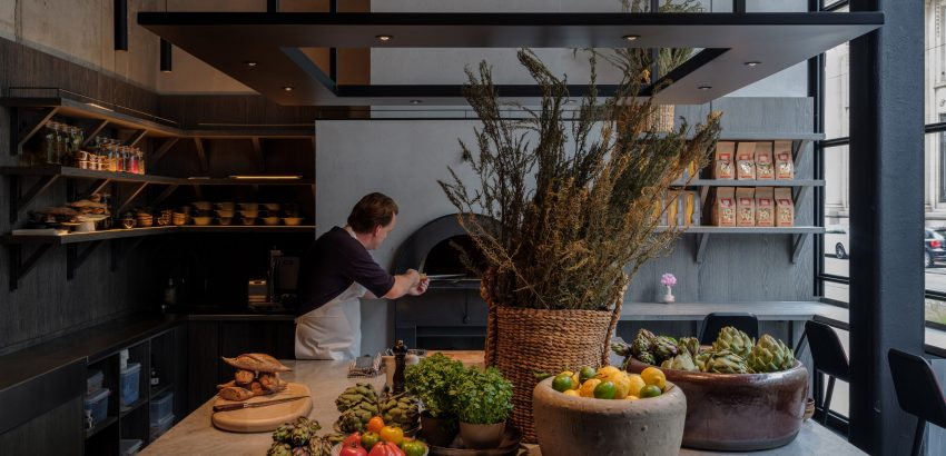 Space Copenhagen Creates Subtle Interiors For Le Pristine le pristine Space Copenhagen Creates Subtle Interiors For Le Pristine le pristine restaurant interiors antwerp space copenhagen dezeen 2364 col 3 850x410