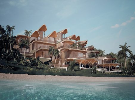 Zaha Hadid Architects Unveils Housing Project in Honduras zaha hadid architects Zaha Hadid Architects Unveils Housing Project in Honduras 02 Roata  n Pro  spera Residences Exterior LowBeach Overview 453x336