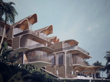 Zaha Hadid Architects Unveils Housing Project in Honduras zaha hadid architects Zaha Hadid Architects Unveils Housing Project in Honduras Exterior LowBeach StaggerSilhouette scaled 1 453x336