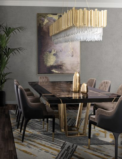 dining room design Dining Room Design Ideas to Host The Perfect Meal empire square snooker suspension 02 410x532