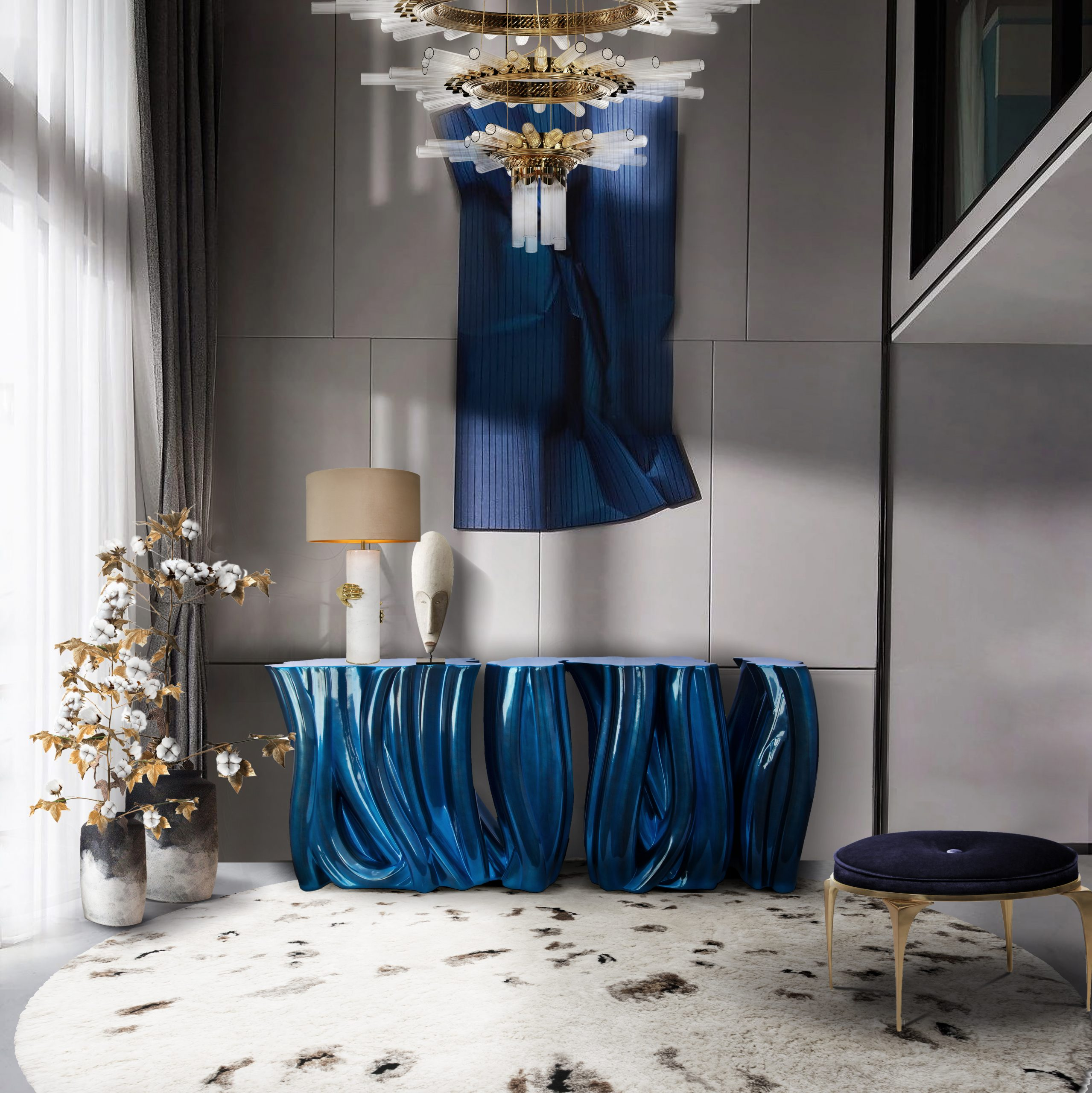 Color Trends That Will Brighten Your Home Design Pantone Colors of 2018 The Pantone Colors of 2018 you Can Find at iSaloni Milano 2017 majestic chandelier 02 scaled Pantone Colors of 2018 The Pantone Colors of 2018 you Can Find at iSaloni Milano 2017 majestic chandelier 02 scaled