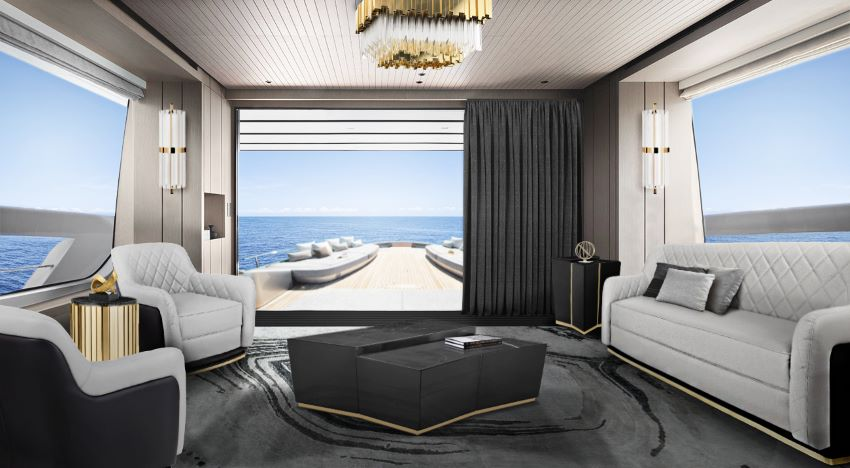 Yacht Design: Luxurious Interiors yacht design Yacht Design: Meet the Tecnomar for Lamborghini 63, a Luxurious Yacht beyond center table cover 02222222