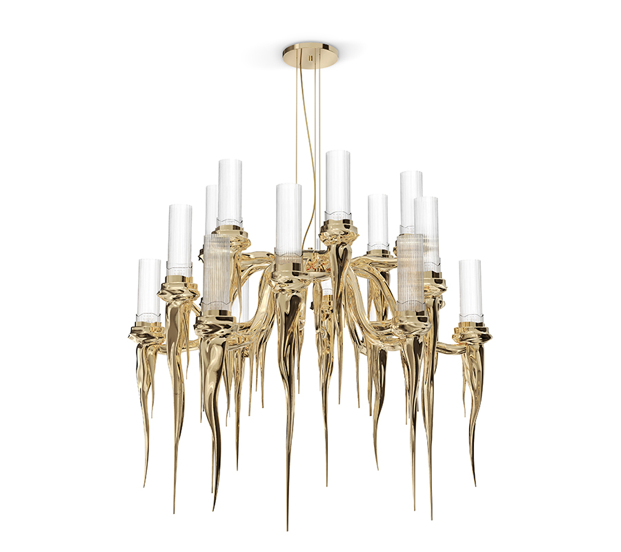 25 Modern Chandeliers That Will Make A Striking Impact modern chandeliers 25 Modern Chandeliers That Will Make A Striking Impact WAX 1 luxury dining room 50 Incredible Home Decor Ideas For A Luxury Dining Room WAX 1
