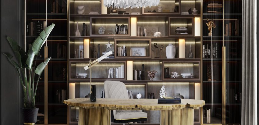 best 25 bookcases for a luxurious home office Best 25 Bookcases for a Luxurious Home Office empire II suspension 05 850x410