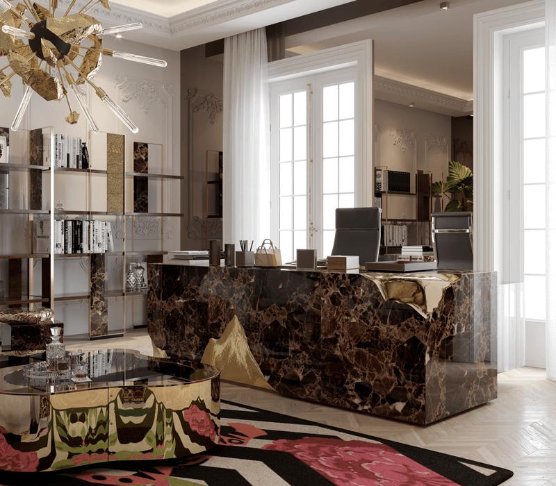 luxury desks Top 25 Luxury Desks to Modernize Your Home Office Decor empire desk 04 boca do lobo