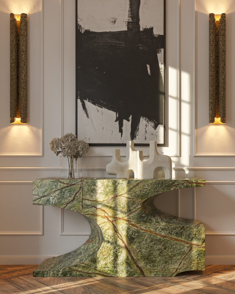 Hallway Decor for a Stunning Memorable Foyer hallway decorating Hallway decorating-fill the space with personality Contemporary Home Design with BRYCE II Console 2