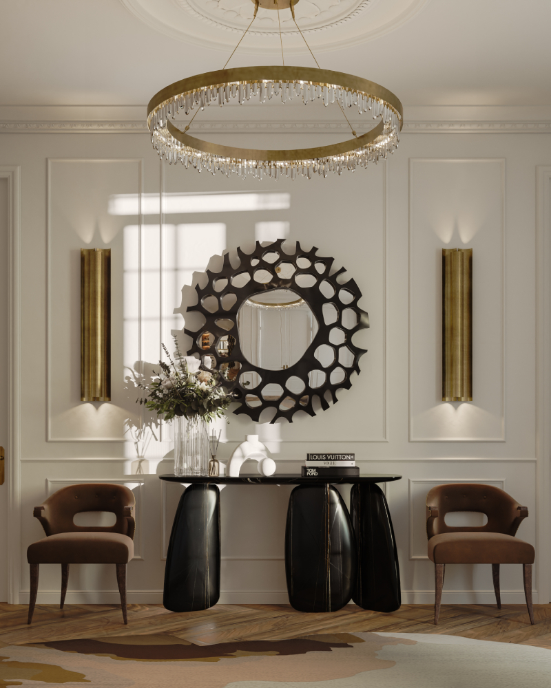 Hallway Decor for a Stunning Memorable Foyer hallway decorating Hallway decorating-fill the space with personality Majestic Entryway with hand painted ARDARA II Console 2