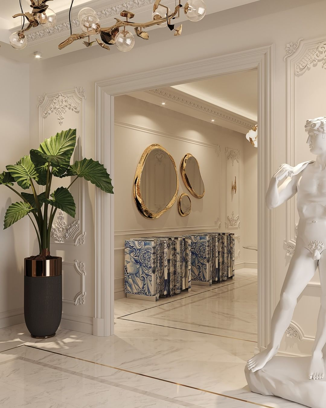 Hallway Decor for a Stunning Memorable Foyer hallway decorating Hallway decorating-fill the space with personality bl heritage modern sideboard