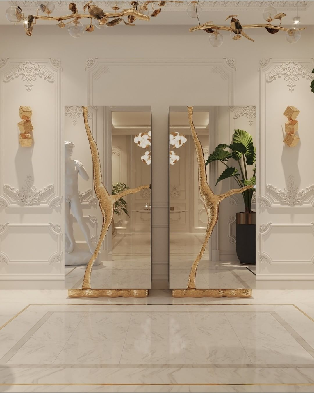 Hallway Decor for a Stunning Memorable Foyer hallway decorating Hallway decorating-fill the space with personality bl lapiaz handmade cabinet