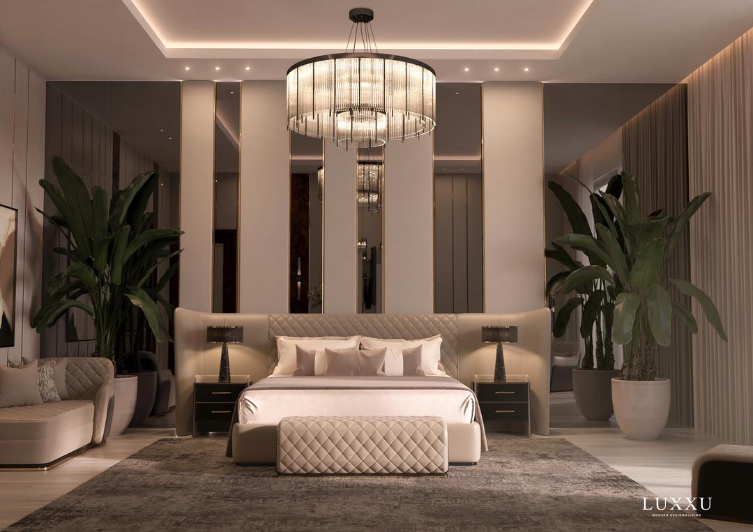 bedroom design inspiration- glamorous bedroom