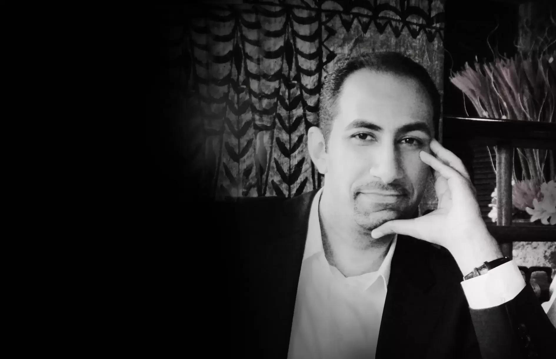 wesam al rashid portrait in black and white