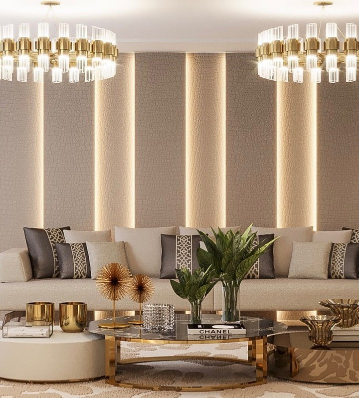 Tycho Round Suspension Lamp, living room ambiences