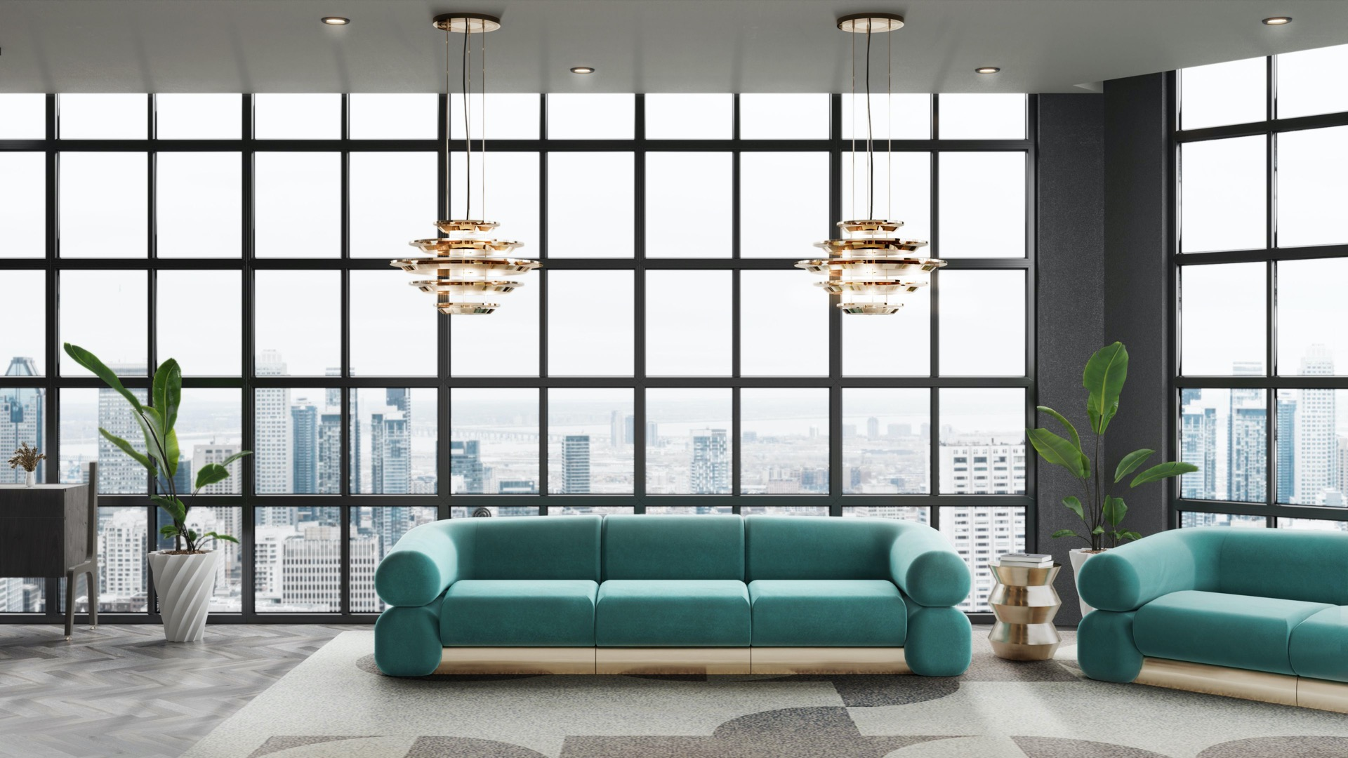living room and dining room ambiences