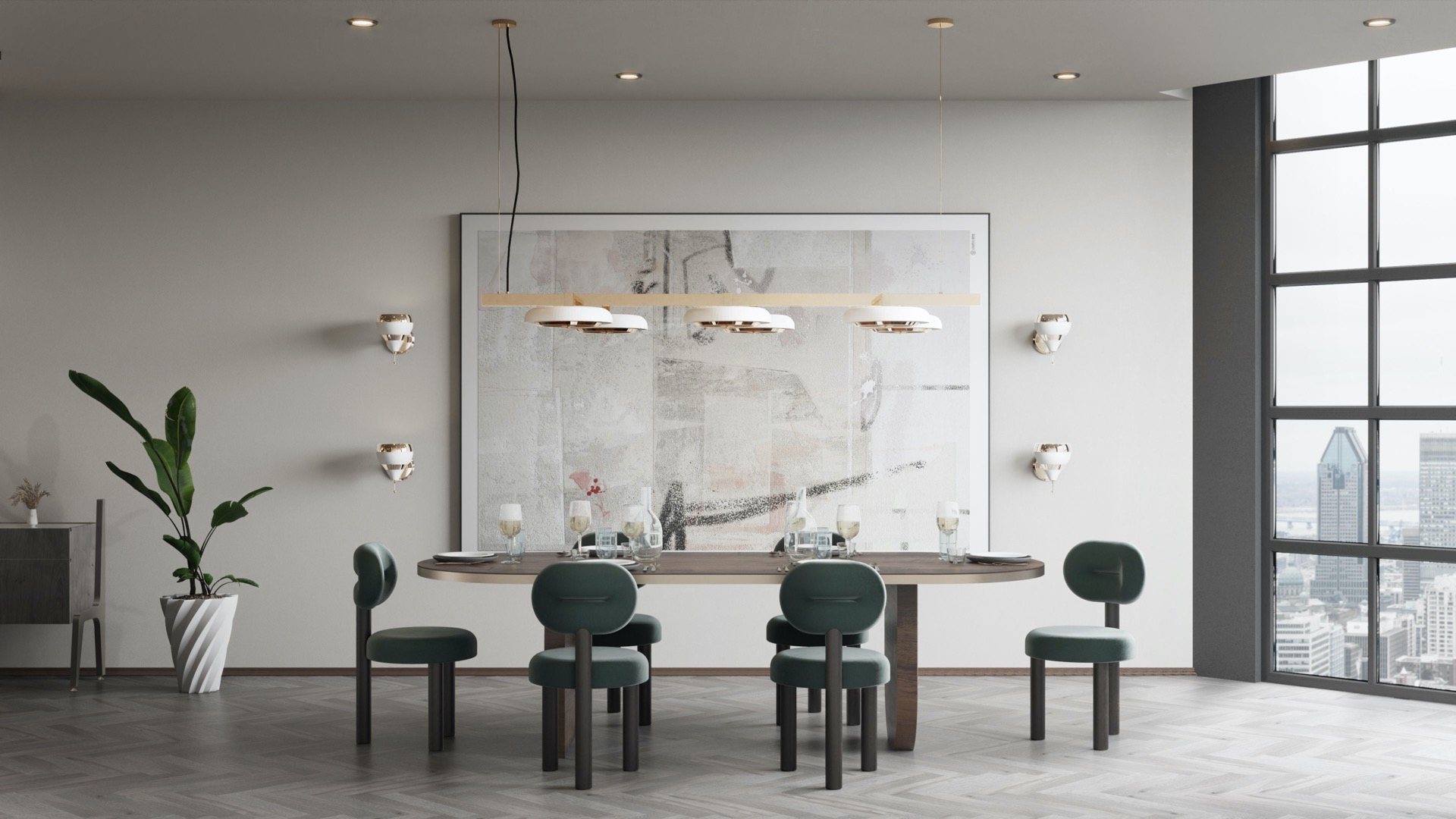 Carter Suspension Lamp dining room ambiences