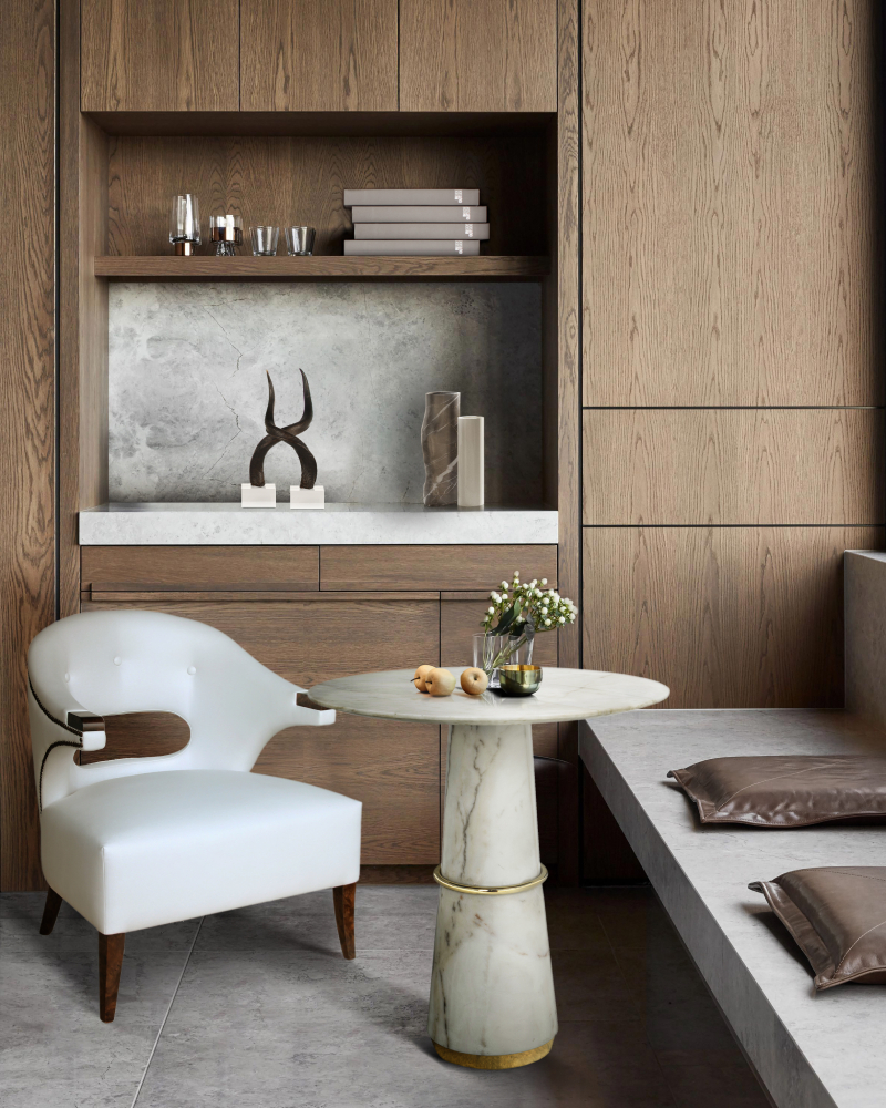 dining room design with little clutter and maximum elegance